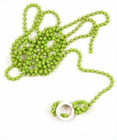 Succulent Sour Green Magnetic Ball Chain Necklace   ON SALE: $10.20