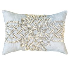 Celtic Cross Linen Lumbar Pillow