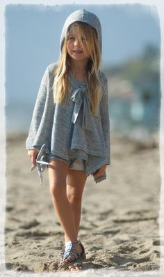 Luna Luna ``Greyson`` Heather Grey Hooded Comfy Coverup JacketSold Out!