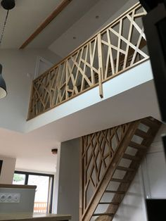 House Staircase, Loft Stairs, Home Stairs Design, House Design, Room Deviders, Escalier Design, Stair Railing, Stair Walls, Little Houses
