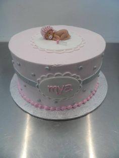 Baby girl baby shower cake   Gala Bakery - San Lorenzo, CA   www.galabakery.com