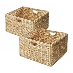 Seville Classics Woven Hyacinth Storage Cube Basket (Set of 2) | Overstock.com Shopping - Great Deals on Seville Classics Decorative Organizers