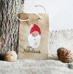 Säckchen & Beutel - Geschenktüte Nikolaus - ein Designerstück von GuteGaben bei DaWanda