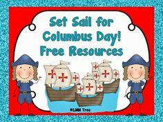 LMN Tree: Set Sail for Columbus Day Free Resources and Activities. Holiday Classrooms, Classroom Fun, Classroom Activities, Kindergarten Social Studies, Kindergarten Lessons, School Holidays, School Fun, School Stuff, Study History