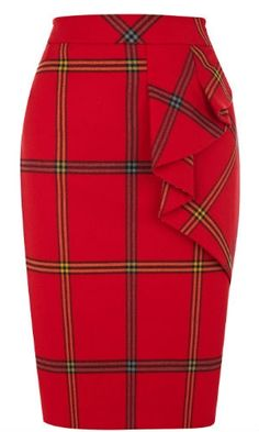 Karen Millen Red Tartan Skirt Size 14 for sale online Skirt Pants, Dress Skirt, Cute Skirts, Karen Millen, African Fashion, Autumn Fashion, Tweed, Rock, Clothes For Women
