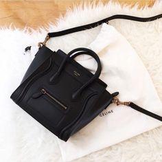 Lovely Black CÉLINE Bag #CÉLINE #CELINE #CelineFashion #CelineAddict #CelineBag #DVSStyle