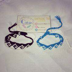 Alpha Greek Wave Friendship Bracelet