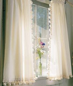 Tier Curtains Classic Ball Fringe Perma-Press Tier Curtains - Country Curtains®