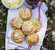 Lemon drizzle scones. We've combined two of your favourite baking recipes to create one tea party treat - zingy lemon drizzle cake and traditional English scones