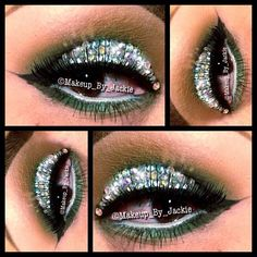 GREAT FOR ST PATTY'S DAY!  FOR THIS LOOK USED @MUAshop THRASH & GOSSIP PRO MATTE EYE SHADOWS. LASHES ARE FROM @LASHESINABOX IN NUMBER 4.  purchased these crystals from Ebay @makeup_by_jackie