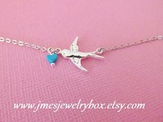 Sparrow bracelet with turquoise heart (Adjustable) by jmesjewelrybox on Etsy https://www.etsy.com/listing/187213078/sparrow-bracelet-with-turquoise-heart