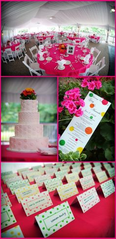 polka dot wedding reception | the beautiful tented reception was held at lakes golf country