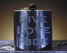This etched flask is for you, or for the motorcycle enthusiast in your life. You are looking at ONE etched brushed stainless steel flask. It has 'LIVE LOVE RIDE' etched largely on one side. Gifts For Husband, Gifts For Him, Etched Gifts, Live Love, Brushed Stainless Steel, Hand Washing, Flask, Barware, I Shop