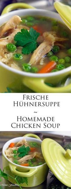 Selbst gemachte Hühnersuppe ist nicht nur während einer Erkrankung ein stärkendes Gericht. Die Hühnersuppe schmeckt und wärmt den ganzen Winter.