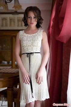 Девочки, недавно кто-то выкладывал такое платье, и даже по моему в чёрном цвете... Как вязать мотив я поняла, а вот как вязать оригинальный узор юбки? На Осинке есть описание этого узора...