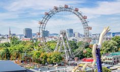 Built in Vienna's Wiener Riesenrad is the world's oldest operating Ferris wheel in one of the world's oldest amusement parks. Vienna Prater, World Travel Guide, Heart Of Europe, Facts For Kids, Vienna Austria, Travel Maps, Culture Travel, Vacation Spots, Ferris Wheel