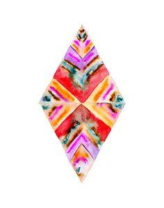 Watercolor Diamond Art Print/Tribal Watercolor by SnoogsAndWilde for Etsy ($14)