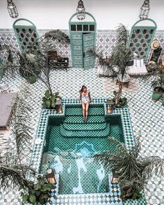 10 Best Hotel Pools in the World Tile and plunge pool heaven! Riad BE in Marrakech, MoroccoTile and plunge pool heaven! Riad BE in Marrakech, Morocco The Places Youll Go, Places To Visit, Piscina Do Hotel, Places To Travel, Travel Destinations, Travel Tips, Travel Hacks, Travel Videos, Rv Travel