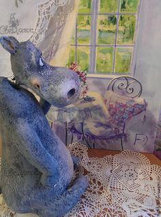 Бегемотя-тётя Мотя))) - серый,синий,голубой,толстушка,пышная,бегемотик