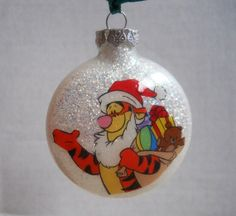 Handmade Glass Glitter Christmas Ornament.  Everything is inside the ornament, the glitter and my design.  Gotta love that!  We will personalize it for you at no extra charge.