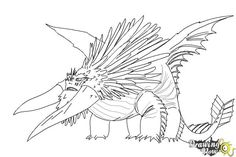 How to draw Bewilderbeast from How to Train Your Dragon 2 - Step 10 String Art Patterns, String Art Tutorials, Barbie Coloring Pages, Colouring Pages, How To Train Dragon, How To Train Your, Devon, Dragon Coloring Page, Dragon Sketch