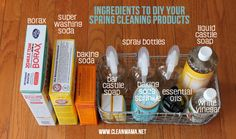 Ingredients to DIY Your Spring Cleaning Products via Clean Mama