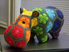 2 March 2014 update Toys Patterns african flowers Happypotamus The Happy Hippo pattern by Heidi Bears Crochet Hippo, Crochet Patterns Amigurumi, Cute Crochet, Crochet Dolls, Crochet Baby, Knitting Patterns, Knit Crochet, African Flower Crochet Animals, Crochet Flowers