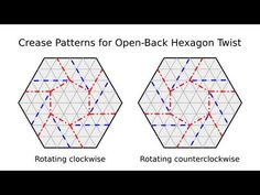 Origami Tessellation Basics Open Back Hexagon Twist