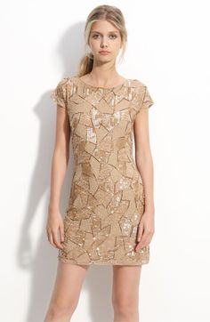 The funky nude dress Courtney wore on the last episode of the Bachelor.