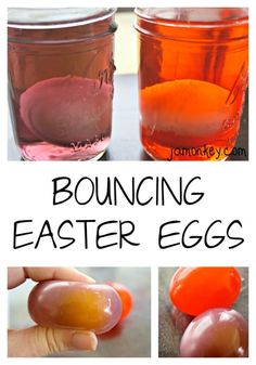 Did you know that you could make an egg bounce? Experiment with these fun bouncing Easter eggs to discover how it works! This simple science experiment is super Peeps Science Experiment, Science For Toddlers, Science Experiments For Preschoolers, Cool Science Experiments, Easy Science, Science Experiments Kids, Science Projects, Bouncy Egg Experiment, Science Demonstrations