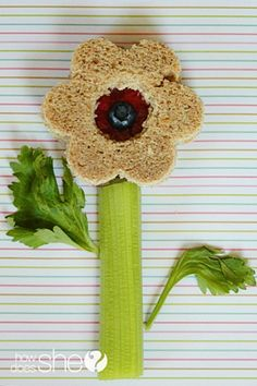 Another flower sandwich idea for kids...For more ideas for school lunches visit http://school-lunch-ideas.net