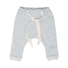 Gro company mint colour baby pants, with salt sea print. Elasticated waist band and cuff bottoms. 95% cotton 5% lycra jersey WAS £30