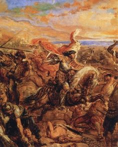 Władysław of Varna, detail of a painting Battle of Varna. Jan Matejko oil on panel. of Fine Arts, Budapest. Władysław III known as Władysław of Varna, was King of Poland from King of Hungary and Croatia from his death at the Battle of Varna.