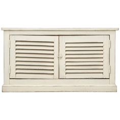 For Sale on - Country French Louvered low cabinet, that we found along the Route de Fougères in Northern France. Our opinion is, that someone had some old shutters laying Louvered Shutters, Old Shutters, Low Country, French Country, French Style, Low Cabinet, Buffet, Storage