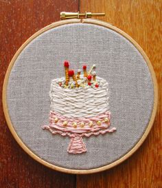 birthday cake needlepoint  Would love to know how to make this.  So creative and visually pleasing.  Fun.