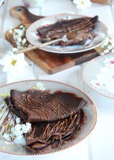 Receta crepes de chocolate