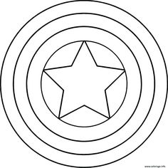 Captain America Logo Coloring Pages from Captain America Printable Coloring Pages. Are you a Marvel's superheroes fan? There is good news, one of them is here. You can find Captain America coloring pictures on this page. Have fun dis. Captain America Drawing, Captain America Coloring Pages, Avengers Coloring Pages, Captain America Logo, Superhero Coloring Pages, Star Coloring Pages, Coloring Sheets For Kids, Free Printable Coloring Pages, Coloring Books