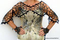 One Size Halloween, Spider Web Costume,Gothic Halloween Clothing, Halloween Spider Web Transformer
