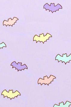 Cute pastel bats