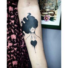 """Apaixonante esse desenho! Tatuagem feita por <a href=""""http://instagram.com/filipeborgestattoo"""">@filipeborgestattoo</a>"""
