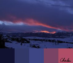 Teton Sunset Color Palette by Charlene Anderson