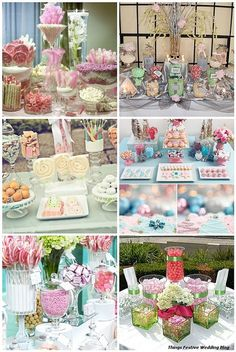 Pastel Candy Buffets