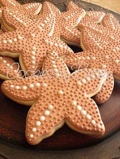 Delicate Starfish Cookies. $30.00, via Etsy/CookiesbyBecky