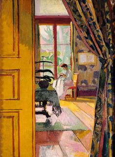mimbeau: Maurice Marinot - Sewing woman - 1904 Maurice Marinot (born March 1882 in Troyes, France, died Troyes) was a French artist. He was a painter considered a member of Les Fauves, and then a major artist in glass. Art And Illustration, Images Vintage, Ouvrages D'art, Sewing Art, Art For Art Sake, Henri Matisse, Art Plastique, Female Art, Painting & Drawing