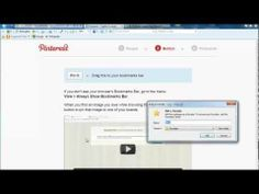 Internet Explorer 9: How to Install Pin It Bookmarklet