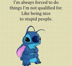 Love this definitely stupid people out their aye J& ce peuple vraiment stupide Funny True Quotes, Funny Relatable Memes, Cute Quotes, Funny Texts, Quiz Disney, Disney Pixar, Funny Disney Memes, Disney Quotes, Lilo And Stitch Quotes