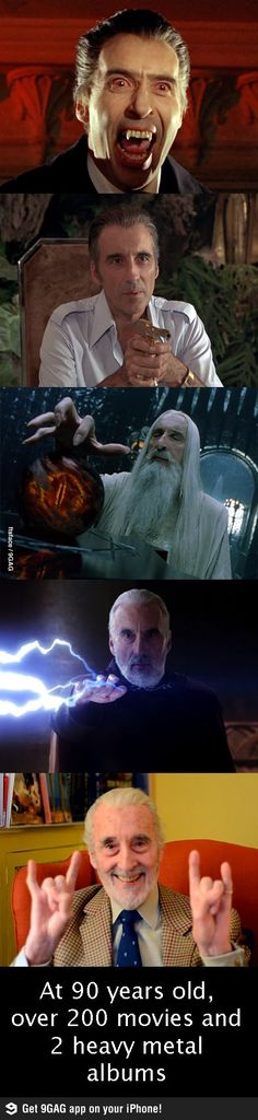 Sir Christopher Lee rocks! Totally in all ways!