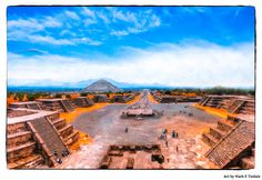Teotihuacan Ruins Avenue Of The Dead Art Print by Mark E Tisdale - ancient Mesoamerican pyramids near Mexico City