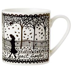 Elle Deco limited edition Rob Ryan Shelter mug