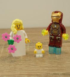 Lego Iroman Iroman Wedding Iroman cake topper Lego by Mylegoideas